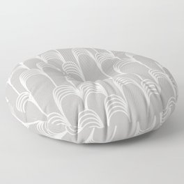 Prelude in Grey Floor Pillow