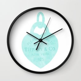 Tiffany heart locket charm Wall Clock