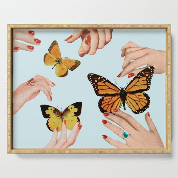 Social Butterflies Serving Tray