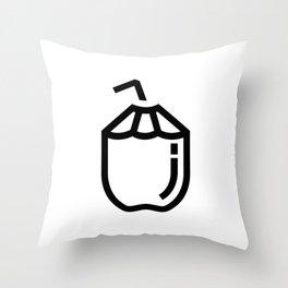 Puro Coco Throw Pillow