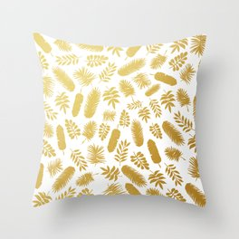el dorado // gold leaf pattern Throw Pillow