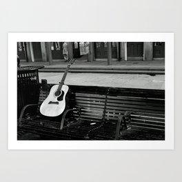 Lonely Guitar Art Print
