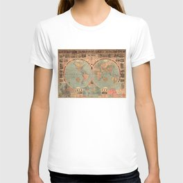 Vintage Map of The World (1883) T-shirt