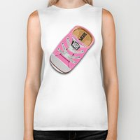 vans Biker Tanks featuring Cute pink Vans all star baby shoes apple iPhone 4 4s 5 5s 5c, ipod, ipad, pillow case and tshirt by Three Second