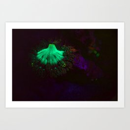 Volcano of fluorescent anemone Art Print
