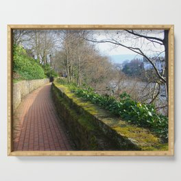 Road By The River Dee Serving Tray