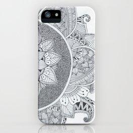 Half Page Mandala iPhone Case