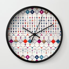 -A14- Lovely Colored Traditional Moroccan Texture Wall Clock