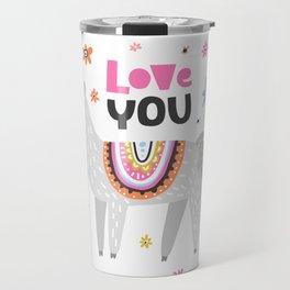 Love you lama Travel Mug