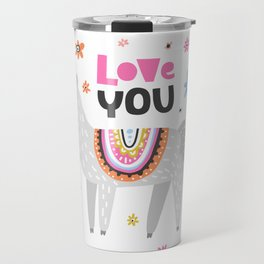 Love you lama Travel Mug