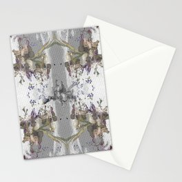 Halftone X-ray Floral Stationery Cards