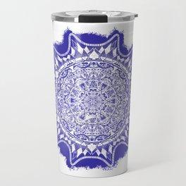 Blue Mandala Pattern Travel Mug