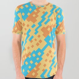 Chocktaw Geometric Square Cutout Pattern - New Mexico All Over Graphic Tee