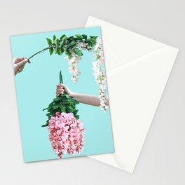 1992 Floral Episodes (Aqua) Stationery Cards