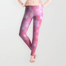 Bubblegum Pink Pixel Sparkle Leggings