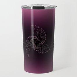 Swirl Sparkle on Burgundy Travel Mug
