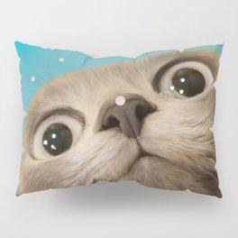 """Fun Kitty and Polka dots"" Pillow Sham"