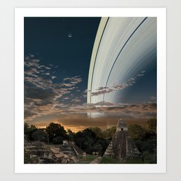 If the Earth had Rings: the View from Guatamala Art Print