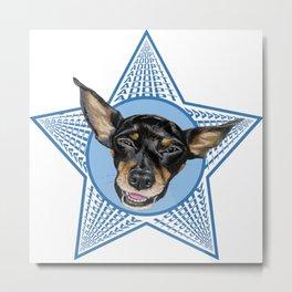 Adopt (Blue) Metal Print