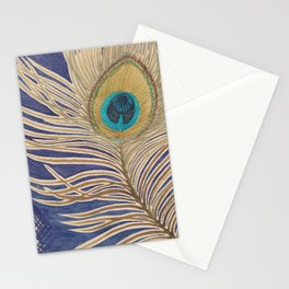Ink Peacock Feather Stationery Cards