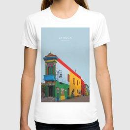 La Boca, Buenos Aires, Argentina Travel Artwork T-shirt
