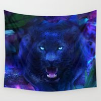 panther Wall Tapestries featuring Panther by Michael White