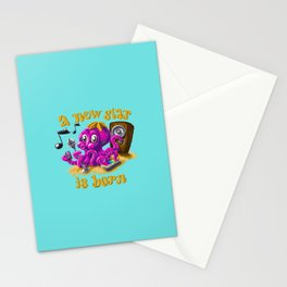 A new star is born - Singing octopus Stationery Cards
