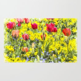 Summer Flowers Art Rug