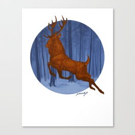 Yule Stag Canvas Print
