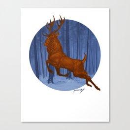 Yule Stag Canvas Print