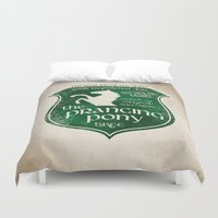 gondor Duvet Covers featuring The Prancing Pony Sigil by Nxolab