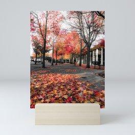 Colorful Autumn In Seattle. Mini Art Print