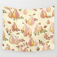 copper Wall Tapestries featuring Copper Pears by Lisa Argyropoulos