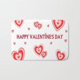 happy valentin's day Bath Mat