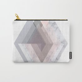 BLUSH MARBLE GRAY SCANDINAVIAN GEOMETRIC Carry-All Pouch