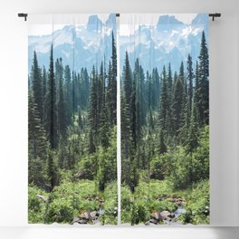 Mount Rainier Classic Mountain Meadow - 129/365 Nature Photography Blackout Curtain