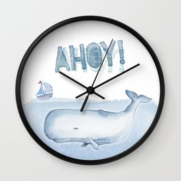 Ahoy! from a Sperm Whale Wall Clock