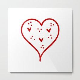 Hearts Against Hate 256 Metal Print