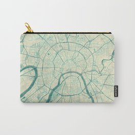 Moscow Map Blue Vintage Carry-All Pouch