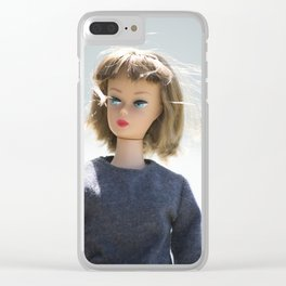 Retro Casual Woman Clear iPhone Case