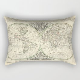 Antique Map from 1691, Sanson Rectangular Pillow