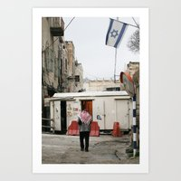 palestine Art Prints featuring Hebron Palestine by Sanchez Grande