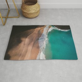 Secret Turquoise Beach With Clear Water & Sienna Sand Rug