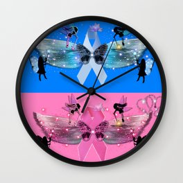 Breast and Prostate Cancer Awareness Wall Clock