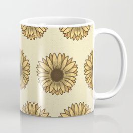 Retro Pop Sunflowers x Pastel Yellow Coffee Mug
