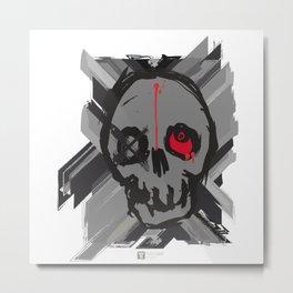 Artsy Skull Metal Print