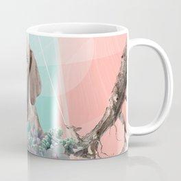 Eclectic Geometric Redbone Coonhound Dog Coffee Mug