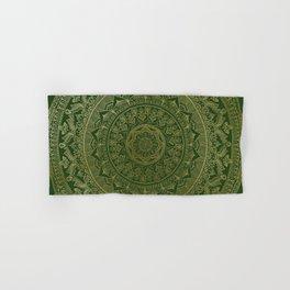 Mandala Royal - Green and Gold Hand & Bath Towel