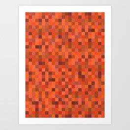 Tangerine Tiles Art Print