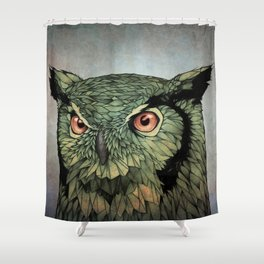 Owl - Red Eyes Shower Curtain